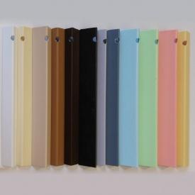 Углы отделочные пластиковые однотонные Теко 2,75 м