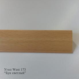 Угол отделочный пластиковый WEST текстура под дерево 2,7 м 10x10 173