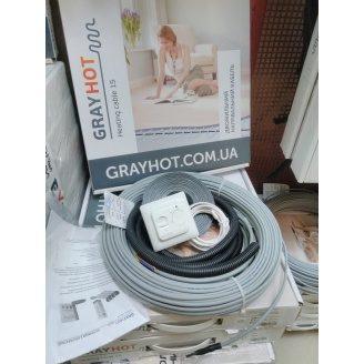 Теплый пол GrayHot тонкий кабельный электрический двужильный 15 Вт/м
