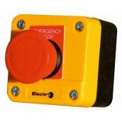 Пост аварійний ElectrO 10A 230/400B IP44 N0+NC жовтий з червоним грибком (PK722RY44A)