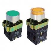 Кнопка ElectrO ВА21 жовта 22 мм NO + NC з підсвічуванням (ВА21NONCYi)