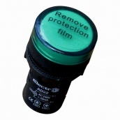 Светосигнальный індикатор ElectrO AD22 LED матриця 22 мм зелена 24В AC/DC (AD22G24)