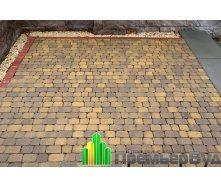Тротуарная плитка Золотой Мандарин Креатив 60 мм желтый на сером цементе