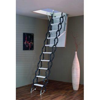 Чердачная лестница Elegance Termo 90х60 см Minka раздвижная металлическая с утепленным люком