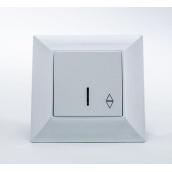 Переключатель Gunsan Neoline одинарный с подсветкой белый (1421100100108)