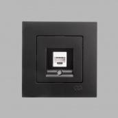 Розетка Gunsan Eqona компьютерная c jak5 черная (1403400100130)