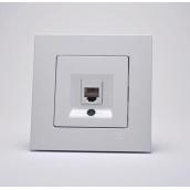 Розетка Gunsan Eqona цифрова телефонна cat3 біла (1401100100120)