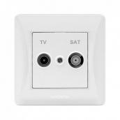 Розетка VIDEX BINERA белая TV+SAT конечная (24442)