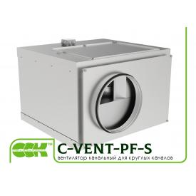 Вентилятор канальный с вперед загнутыми лопатками в шумоизолированном корпусе C-VENT-PF-S-315A-4-380