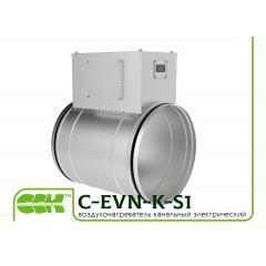 C-EVN-K-S1 воздухонагреватель электрический канальный круглый с регулятором