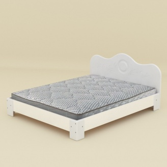 Кровать Компанит 150 МДФ нимфея альба