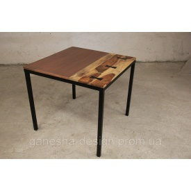 Стол квадратный IRON BASE TABLE COPPER