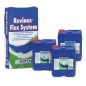 Полімер-цементна гідроізоляційна суміш Neotex Revinex Flex System A+Revinex Flex FP 32 кг сіра