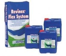 Полимер-цементная гидроизоляционная смесь Neotex Revinex Flex System A+Revinex Flex FP 32 кг серая