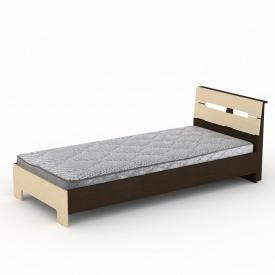Односпальная кровать-90 Стиль Компанит 2133х944х766 мм дсп венге