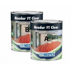 Полімерне покриття для гідроізоляції плиткових поверхонь Neotex Neodur FT Clear A+B 8 кг