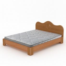 Двоспальне ліжко Компаніт Мдф-150 2058х1500х900 мм вільха