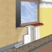 Отделка фасада дома с утеплением мокрым способом