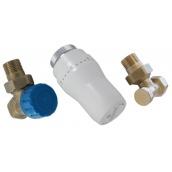 Комплект термостатический Schlosser GZ1/2 x GW1/2 никелированный угловой