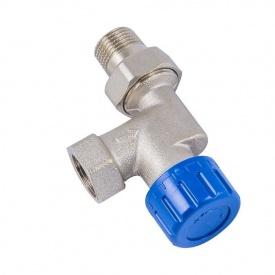 Термостатичний клапан Schlosser нікельований аксіальний DN 15 GZ 1/2xGW1/2