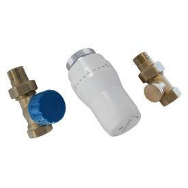 Термостатичний Комплект Schlosser GZ1/2 x GW1/2 нікельований прямий