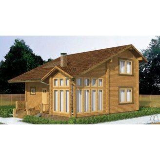 Дом из профилированного бруса 9х10 м