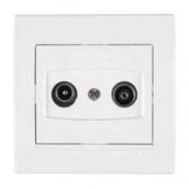 Розетка TV/R Schneider Electric Anya AYA3300321 кінцева 83х83х38 мм білий