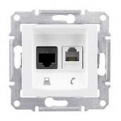 Розетка Schneider Electric Sedna SDN5100121 RJ11+RJ45 кат.5е UTP белый