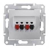 Аудіорозетка Schneider Electric Sedna SDN5400160 71х71х44,5 мм алюміній
