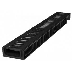Лоток пластиковый 100.65 69 мм с решеткой пластиковой черной