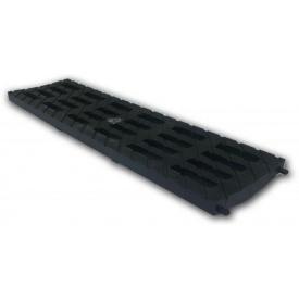 Решетка пластиковая 100 В-125 136 мм (черный)