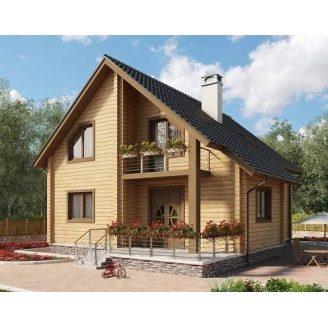 Дом из профилированного бруса 14х10 м