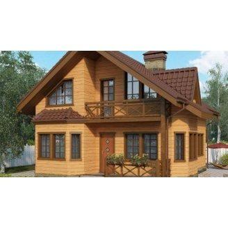 Строительство дома из профилированного бруса 10х8 м