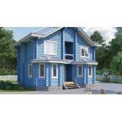 Будинок дерев'яний з оциліндрованої колоди 9х7 м