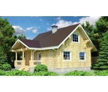 Дом из оцилиндрованного бревна 9х9 м