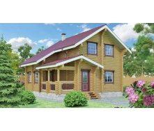 Строительство дома из оцилиндрованного бревна 8х8 м