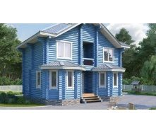 Дом деревянный из оцилиндрованного бревна 9х7 м