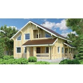 Будинок дерев'яний з оциліндрованої колоди 12х10 м