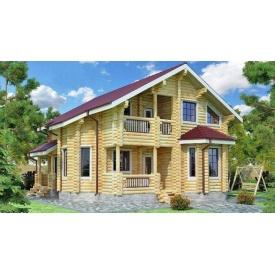 Будинок деревяний з оциліндрованої колоди 11х9 м