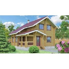 Будівництво будинку з оцилиндрованного колоди 8х8 м