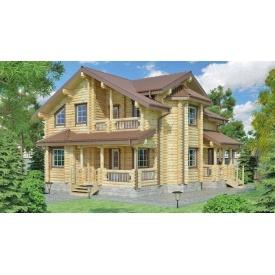 Будинок деревяний з оциліндрованої колоди 10х10 м