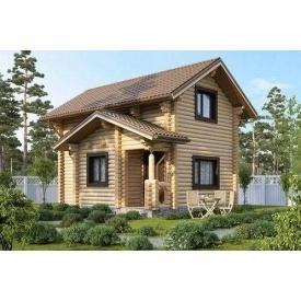 Дерев'яний будинок з оциліндрованої колоди 5х6 м