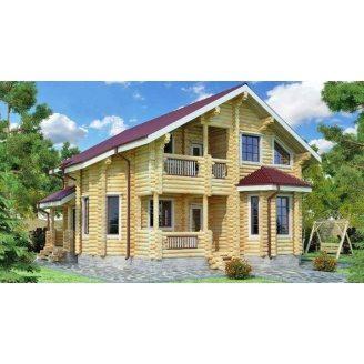 Дом деревяный из оцилиндрованного бревна 11х9 м