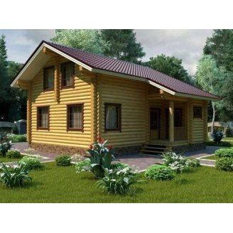 Строительство дома из оцилиндрованного бревна 9х9 м