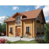 Дом деревянный из оцилиндрованного бревна 7х8 м