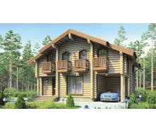 Строительство деревянного дома из оцилиндрованного бревна 8х10 м