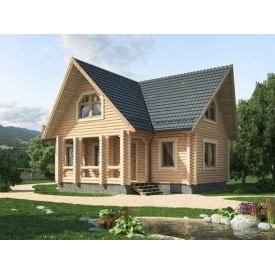 Дерев'яний будинок з оциліндрованої колоди 11х10 м