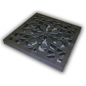 Решетка к дождеприемнику декоративная пластиковая металлик
