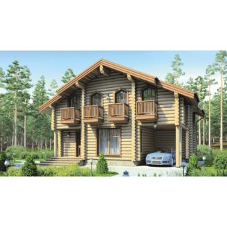 Будівництво дерев'яного будинку з оцилиндрованного колоди 8х10 м