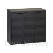 Шкаф низкий трехдверный Elegance S черный Toomax